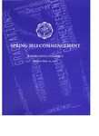 2013 Spring Commencement Program: Winona State University by Winona State University