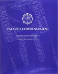 2013 Fall Commencement Program: Winona State University by Winona State University