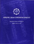 2016 Spring Commencement Program: Winona State University by Winona State University