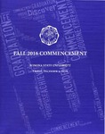 2016 Fall Commencement Program: Winona State University by Winona State University