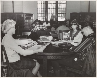 Studying Coed in Maxwell Library