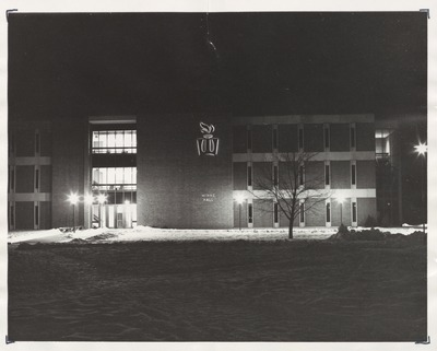 Minne Hall at Night Wintertime