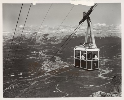 Cable Car to top of Whistlers Mr. Athabasca and Miette Valleys in Tasper Natl Park