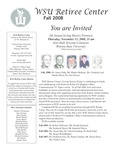 The Retiree Center Newsletter - Fall 2008 by Retiree Center-Winona State University
