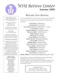 The Retiree Center Newsletter - Summer 2009