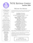 The Retiree Center Newsletter - Summer 2009 by Retiree Center-Winona State University