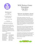 The Retiree Center Newsletter - Fall 2011 by Retiree Center-Winona State University
