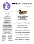 The Retiree Center Newsletter - Winter 2012 by Retiree Center-Winona State University