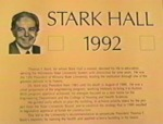 Dedication of Stark Hall 1992